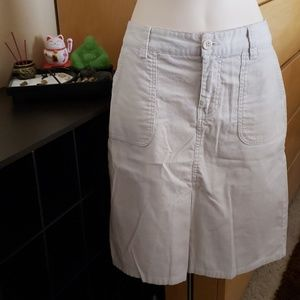 Old Navy Corduroy Cream/White Skirt Size 2